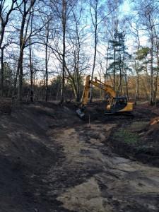 Uitgraven vijver vijveraanleg