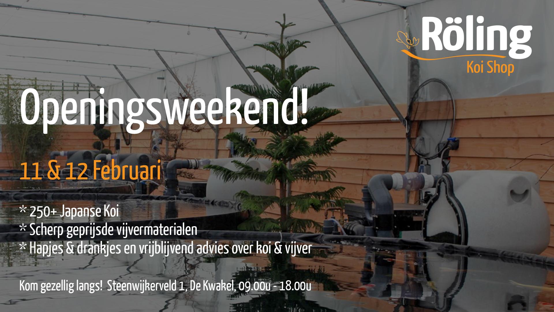 Openingsweekend Koishop FB event